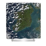 Phytoplankton Bloom Off The Coast Shower Curtain