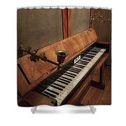 Piano Candelabra Shower Curtain