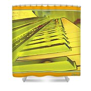 Piano Impressions Shower Curtain