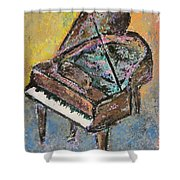 Piano Study 2 Shower Curtain