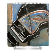 Piano With Spiky Heel Shower Curtain
