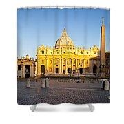 Piazza San Pietro Shower Curtain