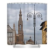 Piazza Santa Croce Shower Curtain
