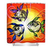 Picasso Fish Three Shower Curtain