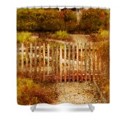 Picket Fence And Cottage Shower Curtain