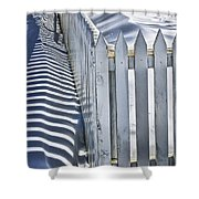 Picket Fence In Winter Shower Curtain