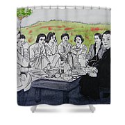 Picnic In The Mountains Shower Curtain