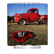 Picnic Time  Shower Curtain by Toni Hopper