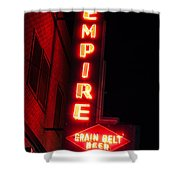 Picture Of Empire Tavern And Liquors Sign Fargo Nd Shower Curtain