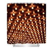 Picture Of Theater Marquee Lights Shower Curtain by Paul Velgos