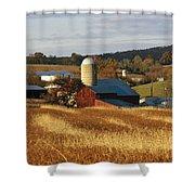 Picturesque Farm Photographed Shower Curtain