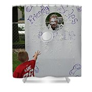 Pie Tossing 02 Shower Curtain