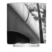Piece Of The Sky  Bw Shower Curtain