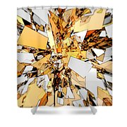 Pieces Of Gold Shower Curtain