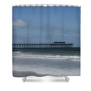 Pier At Myrtle Beach State Park Shower Curtain