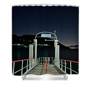 Pier At Night Shower Curtain