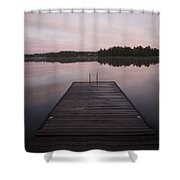 Pier, Lake Of The Woods, Ontario, Canada Shower Curtain
