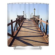 Pier On Costa Del Sol In Marbella Shower Curtain