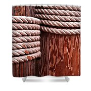 Pier Ropes Shower Curtain