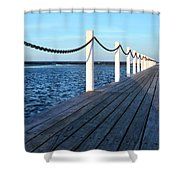 Pier To The Ocean Shower Curtain