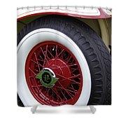Pierce Arrow Wheel Shower Curtain