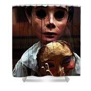 Pierrot Puppet Shower Curtain