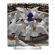 Pigeons Of Maria Luisa Parque Shower Curtain