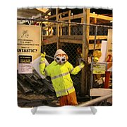 Pike Street Construction Shower Curtain