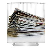 Pile Of Magazines Shower Curtain