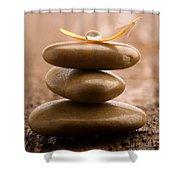 Pile Of Massage Stones Shower Curtain