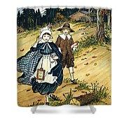 Pilgrim Schoolchildren Shower Curtain