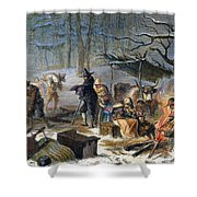 Pilgrims: First Winter, 1620 Shower Curtain