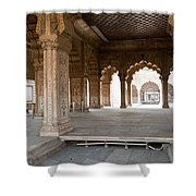 Pillars Of Building Inside Red Fort Shower Curtain
