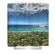 Pillbox View Of Mokulas Shower Curtain