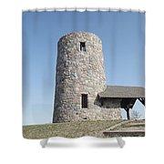 Pilot Knob Tower Shower Curtain