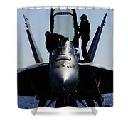 Pilots Conducts A Pre-flight Inspection Shower Curtain