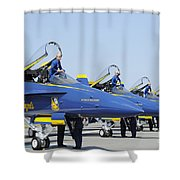 Pilots Of The Blue Angels Flight Shower Curtain