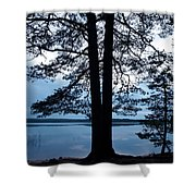 Pine Silhuette Shower Curtain