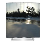 Pine Trees Casting Shadows Shower Curtain