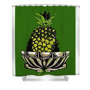 Pineapple Study  Shower Curtain