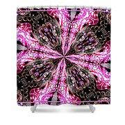 Pink And Purple Gemstones Jewelry Kaleidoscope Shower Curtain