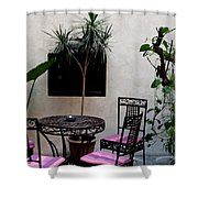 Pink And Purple Patio Shower Curtain