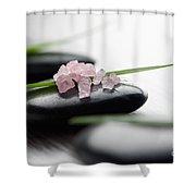 Pink Bath Salt Shower Curtain