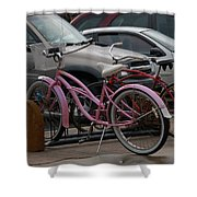 Pink Bicycle Shower Curtain