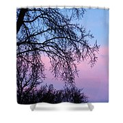 Pink Blue Sky Shower Curtain