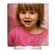 Pink Bubbles Shower Curtain