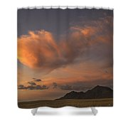 Pink Cloud Shower Curtain