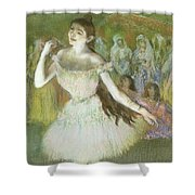 Pink Dancer  Shower Curtain by Edgar Degas