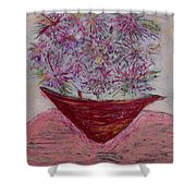 Pink Explosion Shower Curtain
