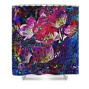 Pink Floral Abstract Shower Curtain